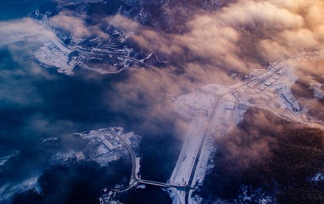 航拍:雪后初霁大别山