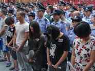 杭州特大傳銷案被告者站滿審判區