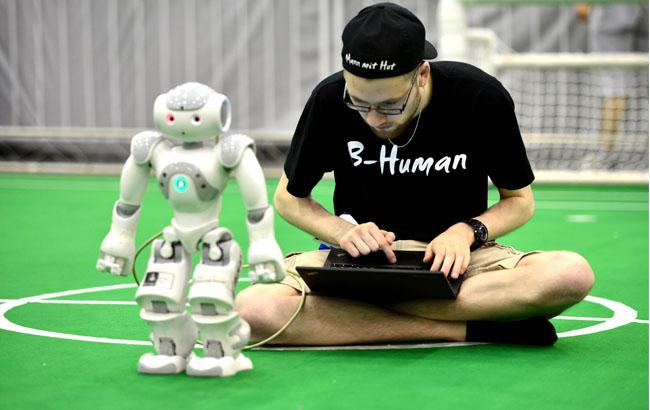 獨家:新華安徽帶你空中看RoboCup機器人世界杯賽(組圖)
