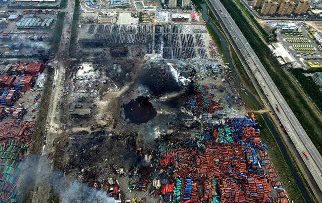 新華網安徽航拍:直擊天津濱海爆炸事故現場