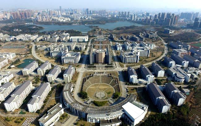 新華網安徽航拍:鳥瞰冬季合肥經開區