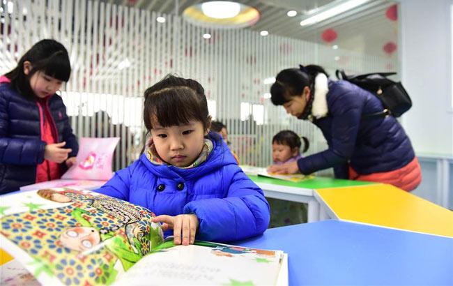 合肥:社區圖書館裏樂享閱讀便利
