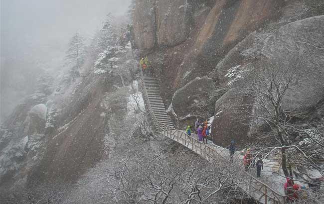 冬日黃山樂賞雪