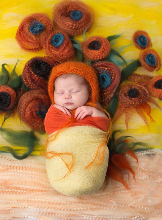 萌翻!美攝影師將熟睡嬰兒完美融入名畫