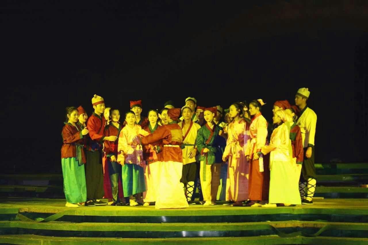 城市大型实景演艺《布衣天子》在蚌埠首演