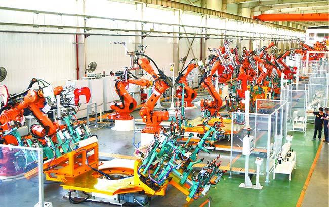 純電動全鋁車身生産線亮相合肥