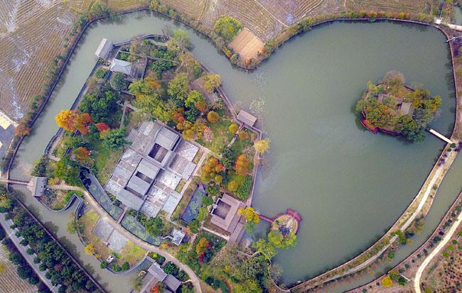 航拍:独特的江淮圩堡建筑群
