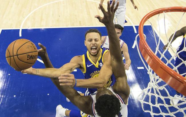 NBA常规赛:勇士胜76人