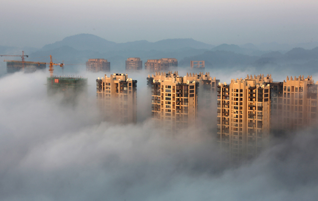 冬日平流雾 氤氲如仙境