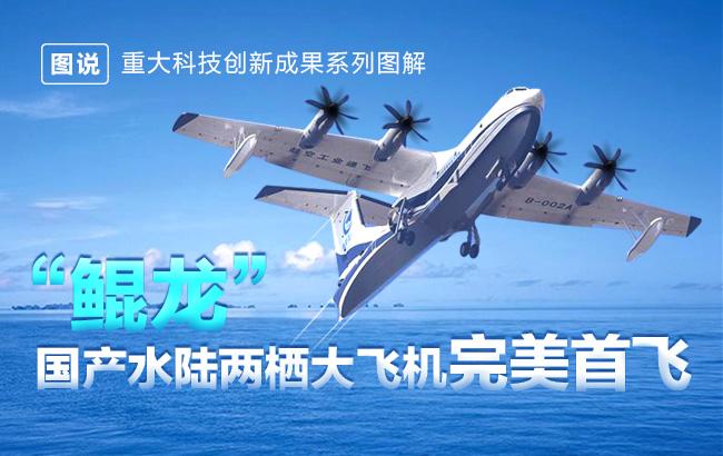 """可飞天,可入海——""""鲲龙""""国产水陆两栖大飞机完美首飞"""