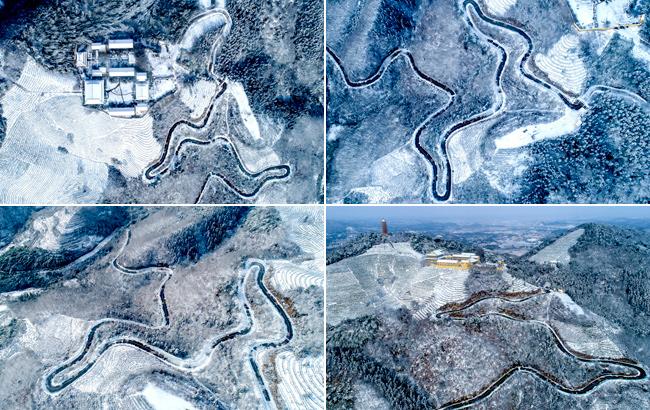 放眼俯瞰雪山晴 山舞銀蛇似仙境