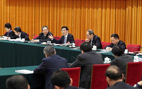 王滬寧參加安徽代表團審議