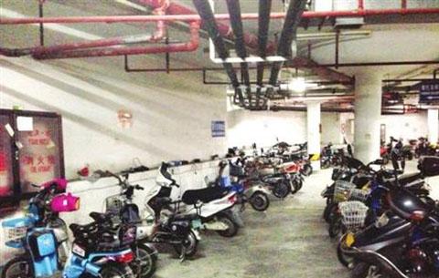 地下車庫驚現多輛業主丟失的電動車