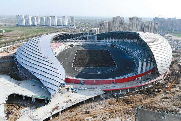 安徽省運會場館雄姿初現 預計5月完工