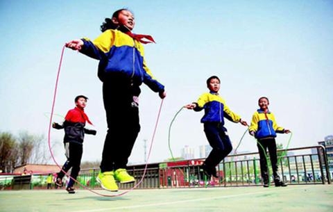 合肥市中考体育开考 选择跳绳的考生仍占多数