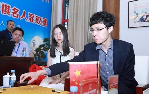 中国90后选手对弈三国围棋混双决赛