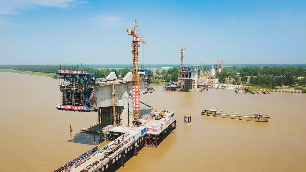 商合杭淮河特大桥主桥工点获全国工人先锋号