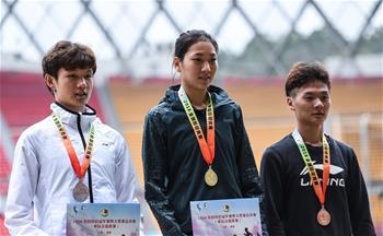 王春雨獲得2018全國田徑冠軍賽女子800米冠軍