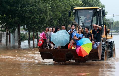 臺風後的緊急疏散
