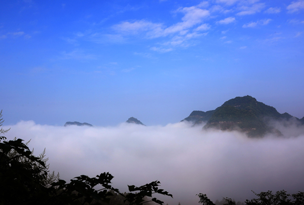雨後初霽 齊雲山現今秋首場壯觀雲海