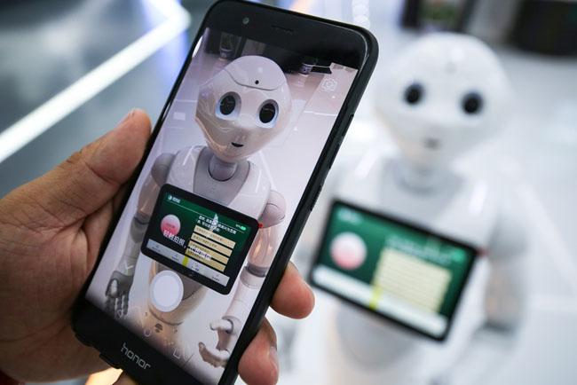 人工智能機器人 走進電力營業廳