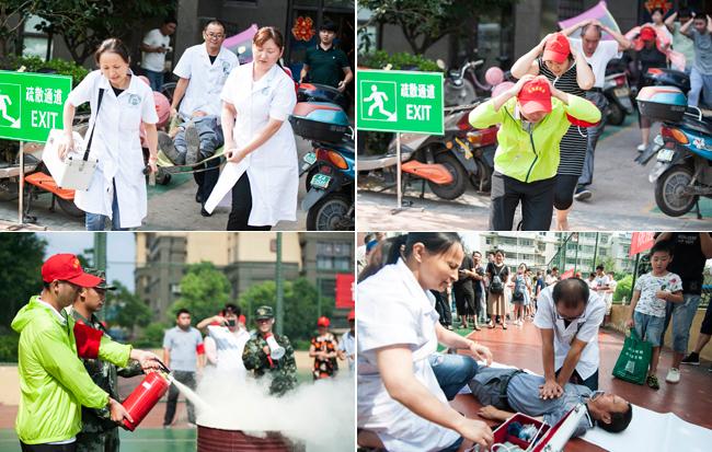 防震防火災應急疏散演練進社區