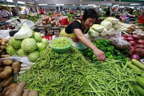 中秋节前,安徽蔬菜便宜了