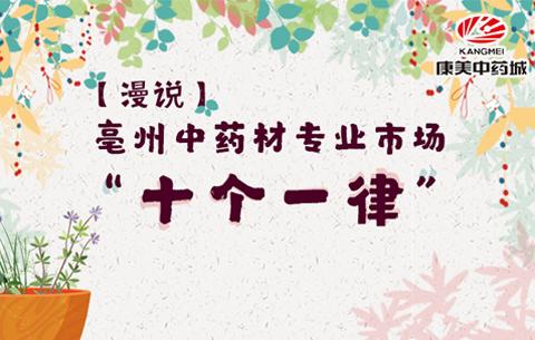 """亳州中藥城專業市場""""十個一律"""""""