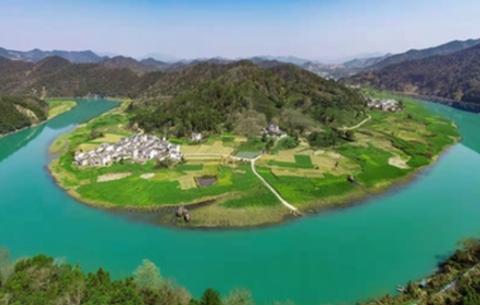 航拍:山水畫廊新安江
