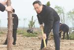 省暨合肥市黨政軍領導與幹部群眾義務植樹