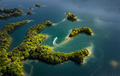 微視頻:美翻了!天空之眼瞰太平湖