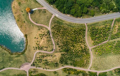 淮南:採煤塌陷區變身城市中央生態公園