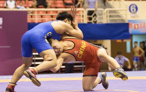 激戰!2019年全國U23摔跤大獎賽在淮北開賽