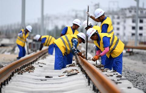 商合杭鐵路合肥北段鋪軌貫通