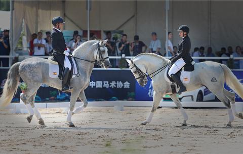 中國馬術盛裝舞步冠軍賽揚鞭開賽