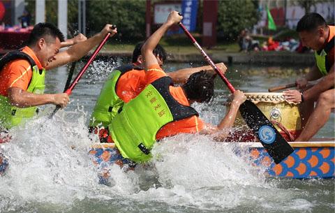 第六屆安徽省高校龍舟公開賽在合肥舉行