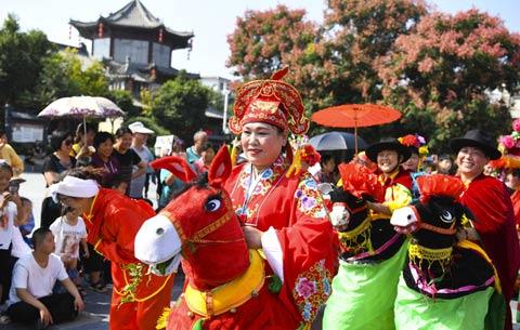 安徽各地舉行多彩慶祝活動祝福祖國
