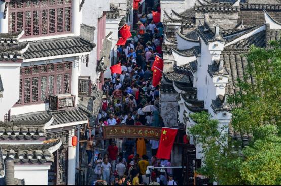 三河(he)古鎮(zhen)︰國(guo)慶期間共bu)喲慰4.6萬(wan)人次