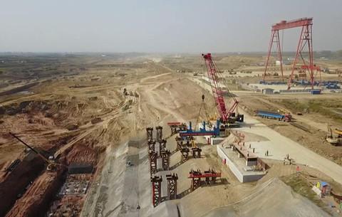 微視頻:河上有河!世界最大跨度鋼結構渡槽正式架梁