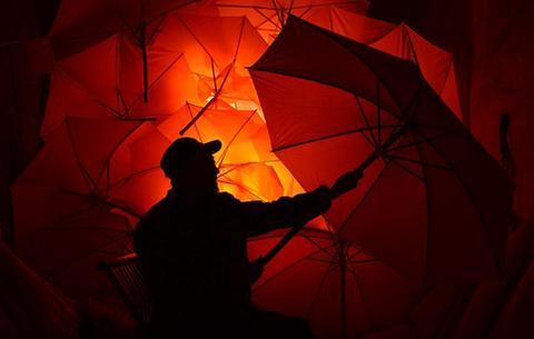 手制油布傘