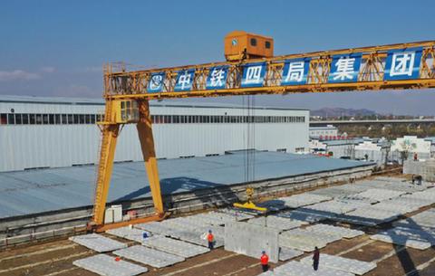 合安鐵路廬江軌道板場完成全部生産任務