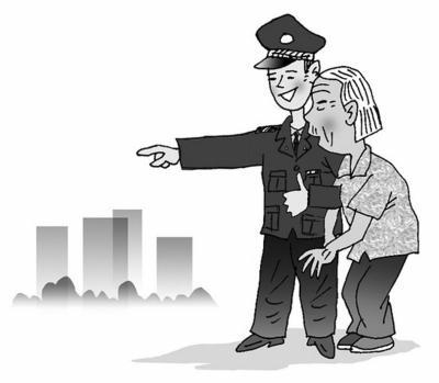 """耄耋老人趕集搭錯車迷路 民警化身貼心""""閨女""""幫忙"""