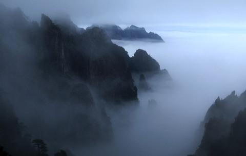 煙雨黃山 水墨丹青