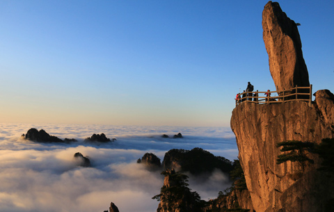 冬日黃山觀雲海