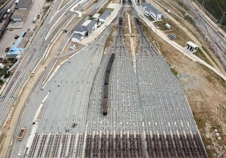 阜陽北站擴能工程主體施工全部完工