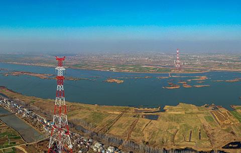 貫通!500千伏輸電工程實現淮河大跨越