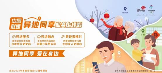 中(zhong)國聯通(tong)異地同(tong)享(xiang)業務(wu)上線