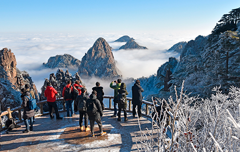 黃山的冬天,美成了一幅畫!