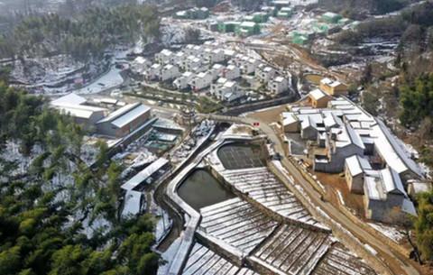 航拍大灣村:瑞雪迎新春