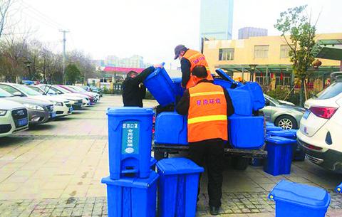 合肥再添500余個口罩專用收集桶